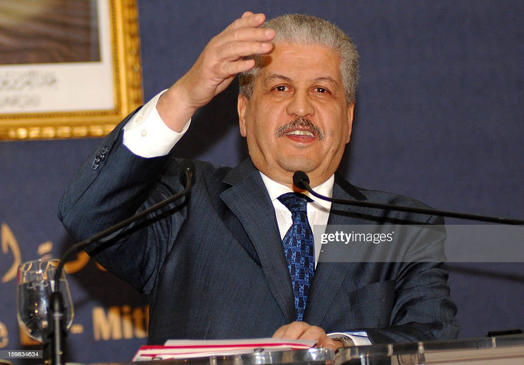 Algerian Prime Minister Abdelmalek Sellal speaks during a press conference in Algiers on January 21, 2012, where he warned other nations to prepare for a higher body count after a four-day siege of a gas plant by Islamist militants ended in a bloodbath, amid fears as many as 50 hostages may have died. AFP PHOTO/STR