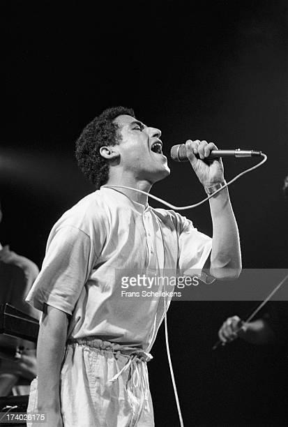Algerian Rai singer Cheb Mami performs at the Melkweg in Amsterdam Netherlands on 28th June 1989