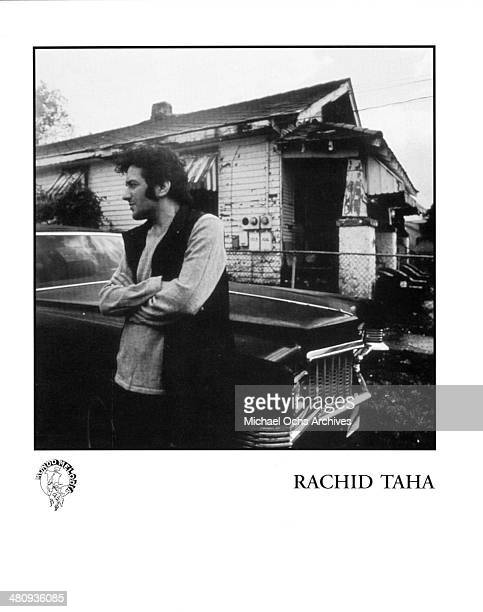 Algerian singer Rachid Taha poses