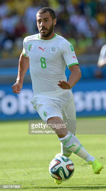 Algeria's Medhi Lacen is seen during the 2014 FIFA World Cup Group H soccer match between Belgium and Algeria at the Mineirao Stadium in Belo...