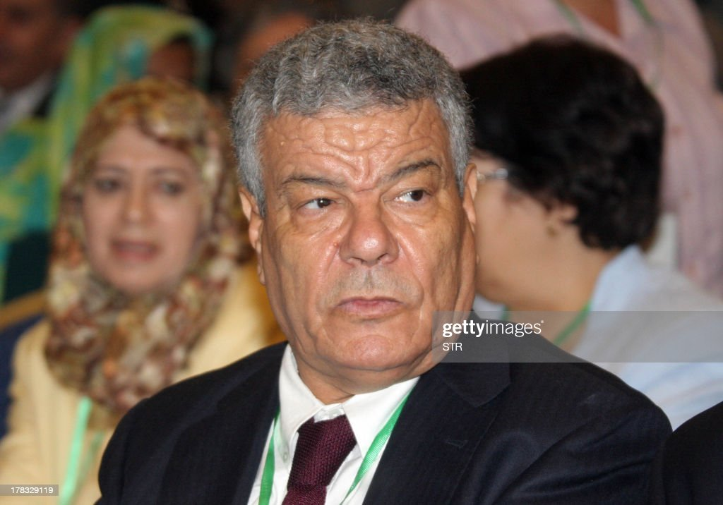 Algeria's newly elected Secretary General Ammar Saidani is seen after the central committee of Algerias ruling National Liberation front voted him though with a show of hands on August 29, 2013 in Algiers. Saidani, 63, former president of the National Popular Assembly, was the sole candidate for the post, and replaces Abdelaziz Belkhadem, who was ousted as the head of the party in February.