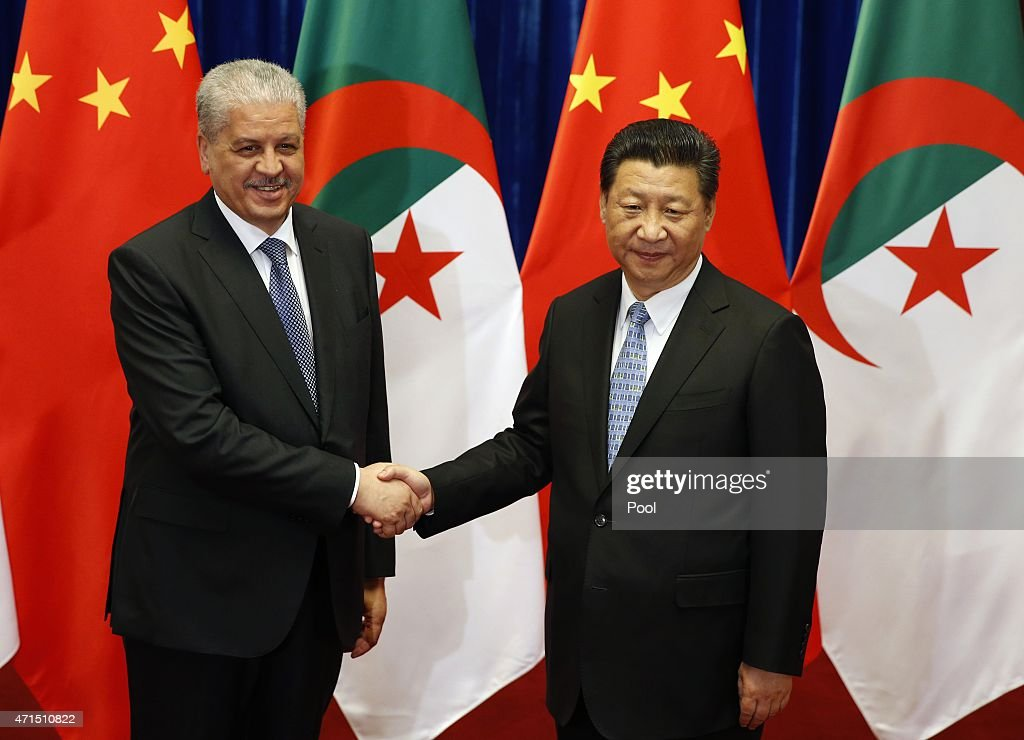 Algeria's Prime Minister <a gi-track='captionPersonalityLinkClicked' href=/galleries/search?phrase=Abdelmalek+Sellal&family=editorial&specificpeople=3196882 ng-click='$event.stopPropagation()'>Abdelmalek Sellal</a> (L) meets with Chinese Premier <a gi-track='captionPersonalityLinkClicked' href=/galleries/search?phrase=Li+Keqiang&family=editorial&specificpeople=2481781 ng-click='$event.stopPropagation()'>Li Keqiang</a> during a signing ceremony at the Great Hall of the People on April 29, 2015 in Beijing, China.