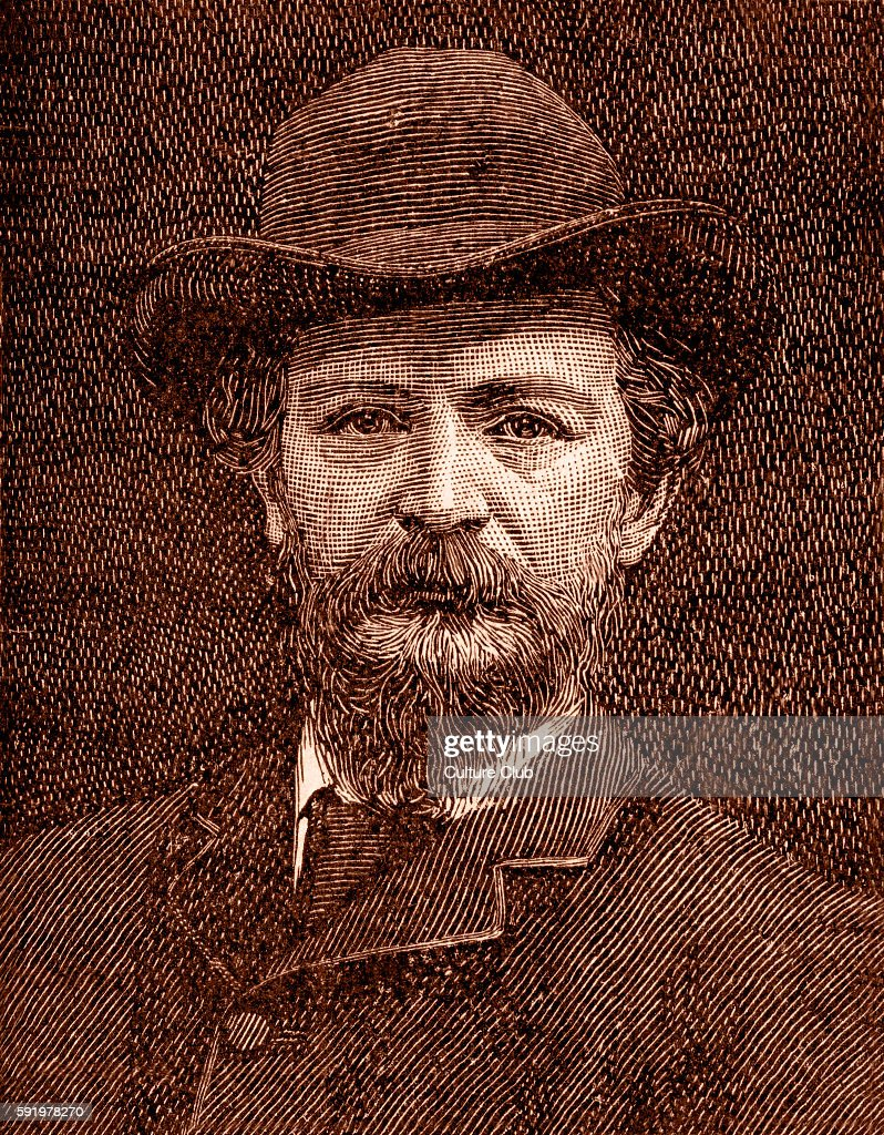 Algernon Charles Swinburne 19th century English poet playwright novelist and critic Inventor of the rondel form Illustration after a photograph by...