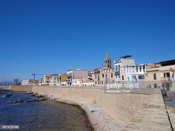 Alghero Old city Promenade, Sardinia, Italy