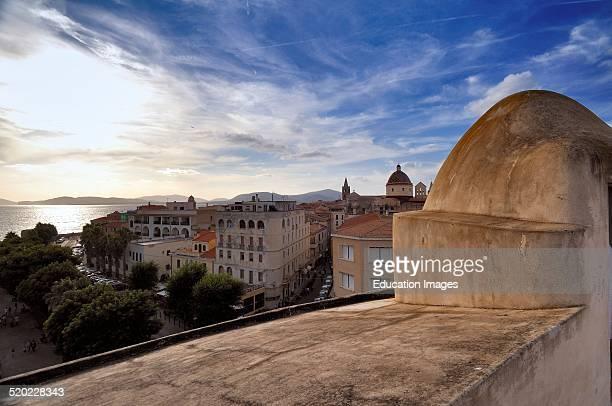 Alghero walls Sardinia Italy