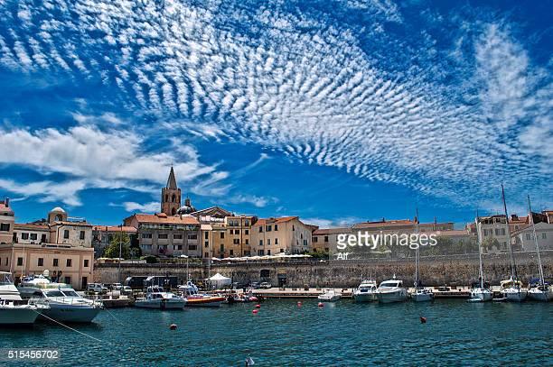 Alghero's Centro storico , Sardinia , Italy