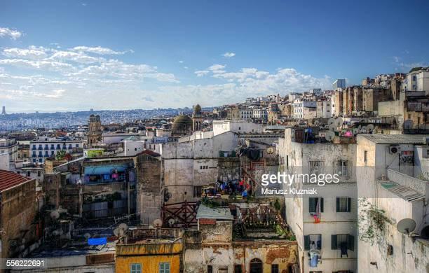 Algiers Kasbah rooftops aerial view