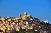 Algiers, Algeria: Our Lady of Africa Catholic basilica, built on the hill above the Bologhine area - designed by Jean Eugene Fromageau, diocesan architect of Algiers - Byzantine style - French colonia