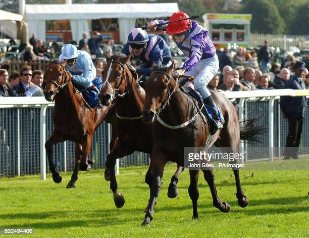 Algol and Tom Eaves win the Acorn Web Offset Stakes at York Racecourse