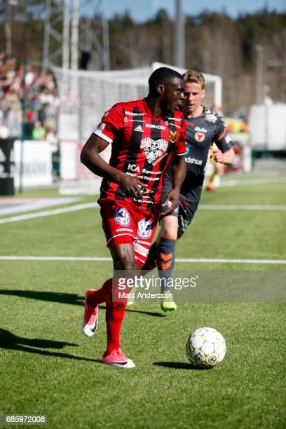 Alhaji Gero of Ostersunds FK during the Allsvenskan match between Ostersunds FK and Kalmar FF at Jamtkraft Arena on May 20 2017 in Ostersund Sweden