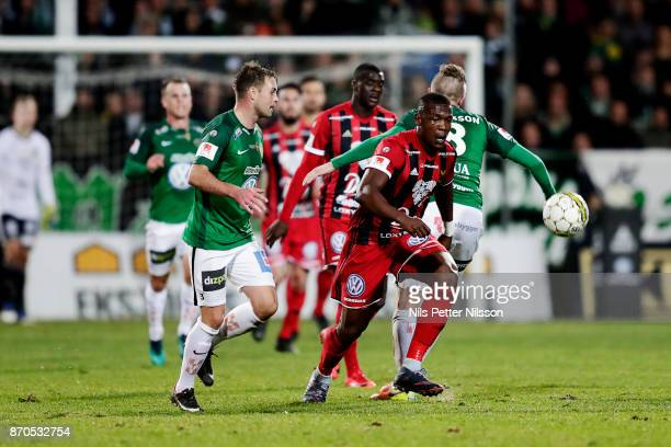 Alhaji Gero of Ostersunds FK during the Allsvenskan match between Jonkopings Sodra IF and Ostersunds FK at Stadsparksvallen on November 5 2017 in...