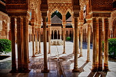 One of the main courtyards of the Alhambra, the palace of the Sultan in Southern Spain.