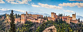 Panoramic view of famous Alhambra de Granada, Andalusia, Spain.