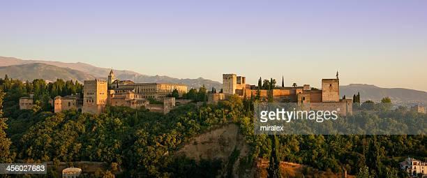 Alhambra Golden Hour Panorama in Granada, Spain