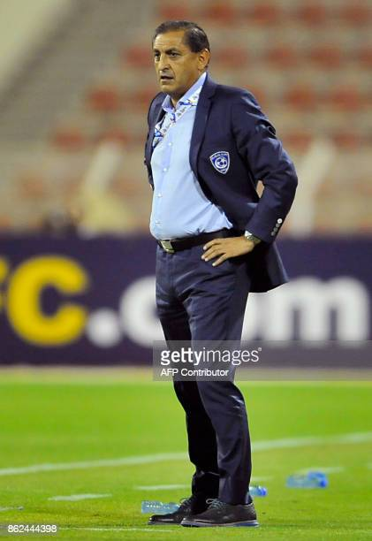 AlHilal's Argentine head coach Ramon Diaz looks on during the Asian Champions League semifinal football match between Persepolis and AlHilal at the...