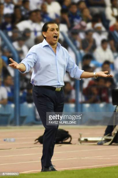 AlHilal's coach Ramon Angel Diaz reacts during the Asian Champions League final football match between Saudi Arabia's AlHilal and Japan's Urawa Reds...