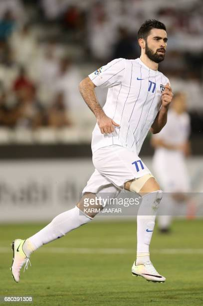 AlHilal's Omar Khribin runs during a AFC Champions League match between Qatar's alRayyan and Saudi Arabia's alHilal at the Jassim Bin Hamad Stadium...