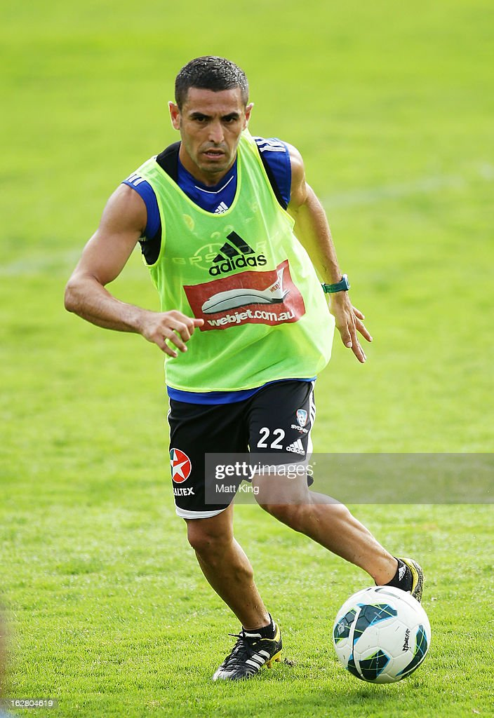 Ali Abbas controls the ball during a Sydney FC A-League training session at Macquarie Uni on February 28, 2013 in Sydney, Australia.