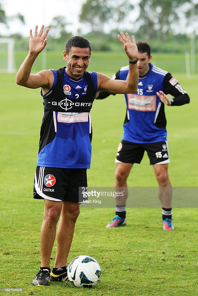 Ali Abbas reacts during a Sydney FC A-League training session at Macquarie Uni on March 5, 2013 in Sydney, Australia.