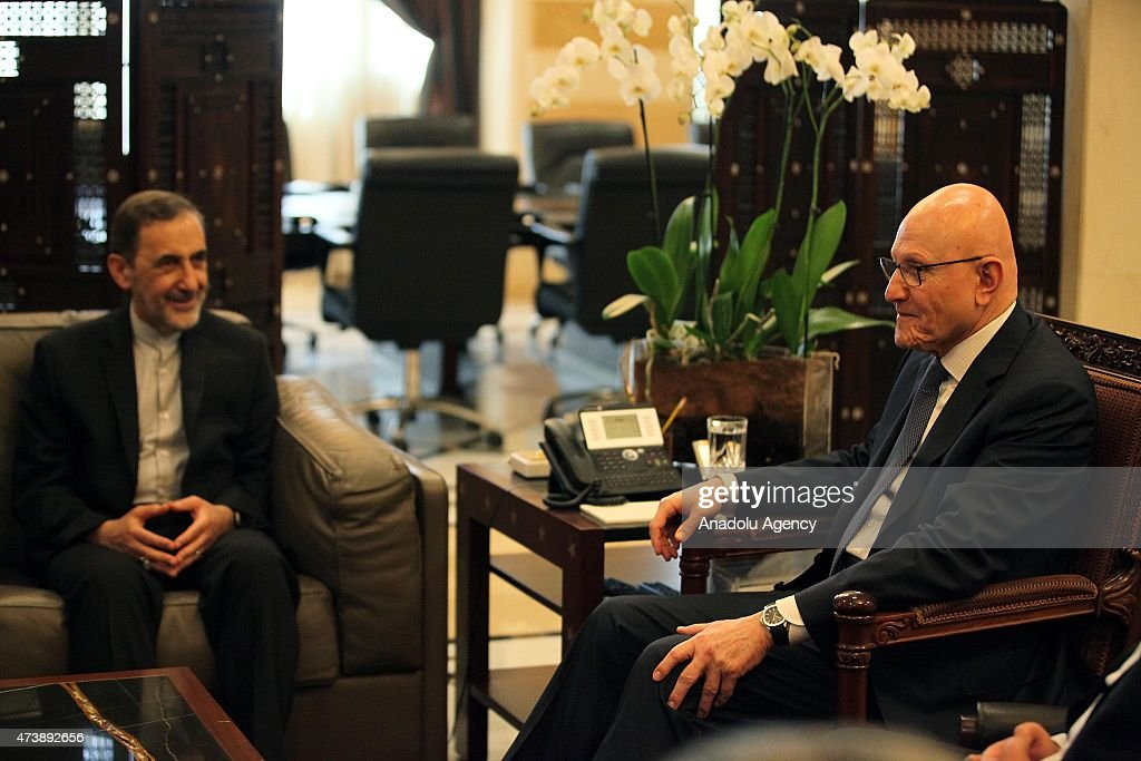 Ali Akbar Velayati advisor to the Iran's Islamic republic's supreme leader Ayatollah Ali Khamenei meets with Lebanese Prime Minister Tammam Salam in...