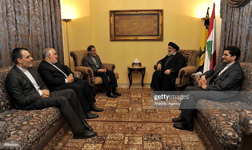Ali Akbar Velayati advisor to the Iran's Islamic republic's supreme leader Ayatollah Ali Khamenei meets Hezbollah leader Hassan Nasrallah in Beirut...