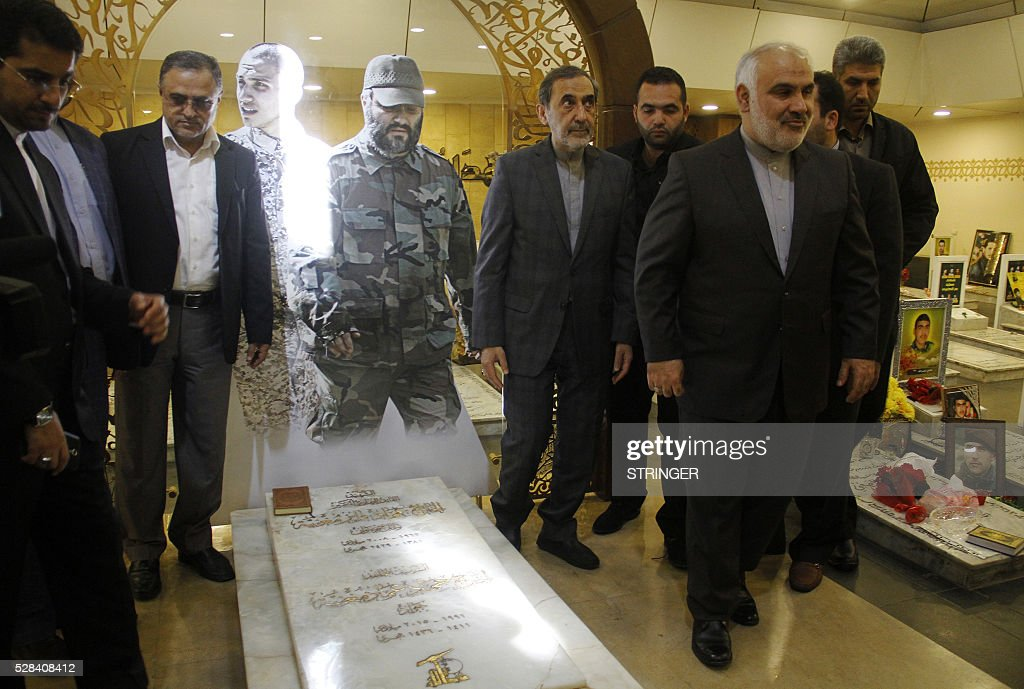 Ali Akbar Velayati the former Iranian foreign minister and a top adviser to Iran's supreme leader visits the tomb of slain Hezbollah militant Imad...