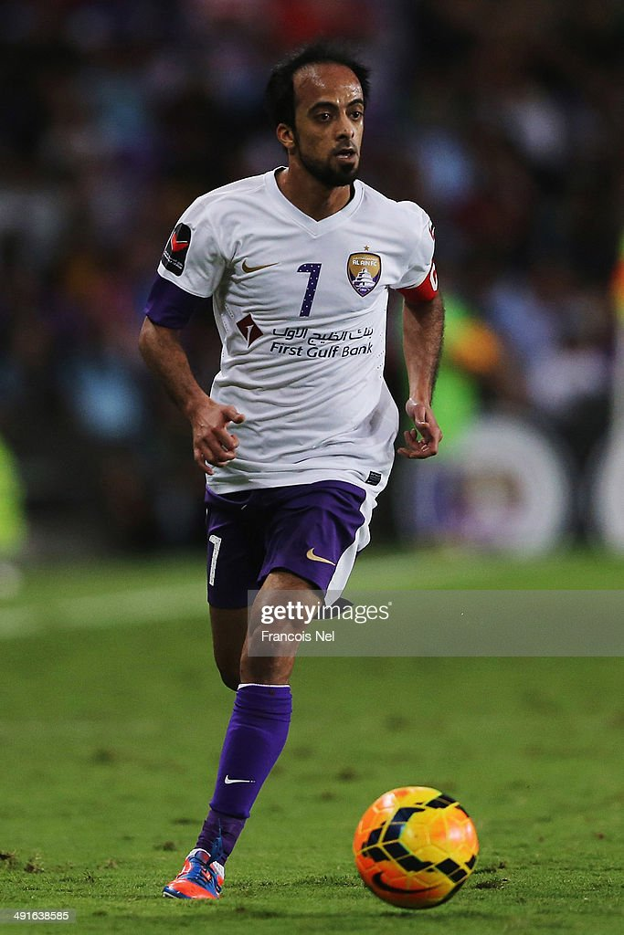 Ali Al Wehaibi of Al Ain in action during the friendly match between Al Ain and Manchester City at Hazza bin Zayed Stadium on May 15, 2014 in Al Ain, United Arab Emirates.