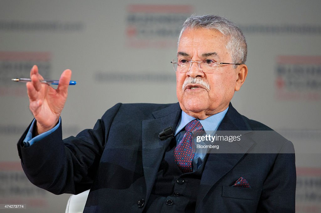 Ali al-Naimi, Saudi Arabia Minister of Petroleum, speaks during the Business Climate Summit in Paris, France, on Thursday, May 21, 2015. Executives of companies including Areva SA, Total SA and L'Oreal SA are due to present their carbon reduction targets at the summit, ahead of major international climate conference COP21 in Paris in December. Photographer: Jasper Juinen/Bloomberg via Getty Images