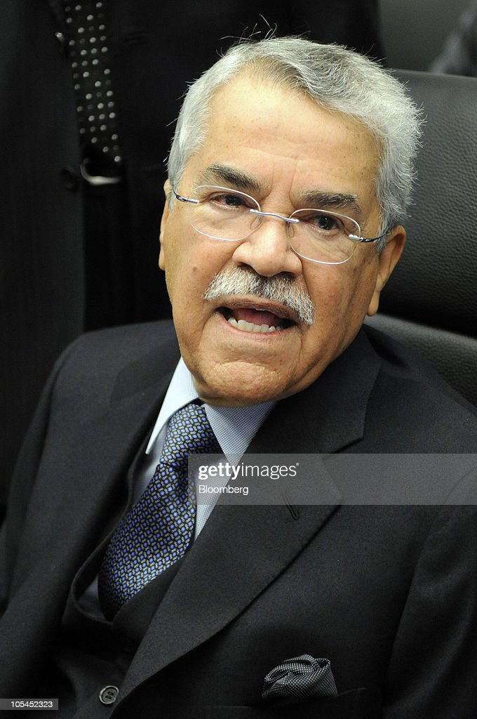 Ali al-Naimi, Saudi Arabia's oil minister, speaks to the media during the 157th Organization of Petroleum Exporting Countries (OPEC) meeting in Vienna, Austria, on Thursday, October 14, 2010. Oil climbed for a second day in New York after an industry-funded report showed U.S. crude supplies fell and the Organization of Petroleum Exporting Countries moved closer to improving compliance with production cuts. Photographer: Vladimir Weiss/Bloomberg via Getty Images