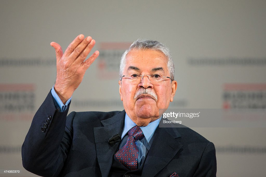 Ali al-Naimi, Saudi Arabia's petroleum minister, gestures as he speaks during a panel discussion at the Business Climate Summit in Paris, France, on Thursday, May 21, 2015. Executives of companies including Areva SA, Total SA and L'Oreal SA are due to present their carbon reduction targets at the summit, ahead of major international climate conference COP21 in Paris in December. Photographer: Jasper Juinen/Bloomberg via Getty Images