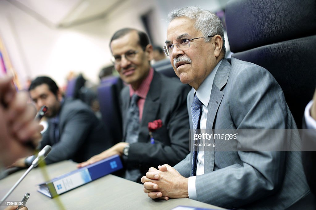 Ali al-Naimi, Saudi Arabia's petroleum minister, prepares for the 167th Organization of Petroleum Exporting Countries (OPEC) conference in Vienna, Austria, on Friday, June 5, 2015. The Organization of Petroleum Exporting Countries has exceeded its own target of 30 million barrels a day for 12 straight months. Photographer: Lisi Niesner/Bloomberg via Getty Images