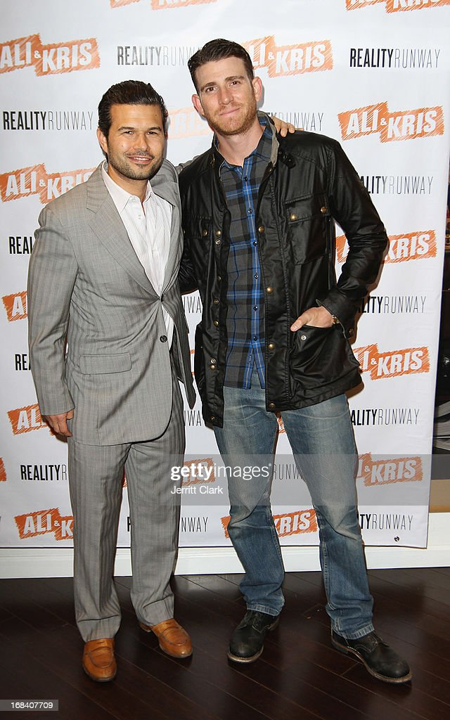 Ali and Kris owner Jason Hoffman poses with <a gi-track='captionPersonalityLinkClicked' href=/galleries/search?phrase=Bryan+Greenberg&family=editorial&specificpeople=2135761 ng-click='$event.stopPropagation()'>Bryan Greenberg</a> at the Reality Runway By Ali And Kris at the Ali and Kris Showroom on May 8, 2013 in New York City.