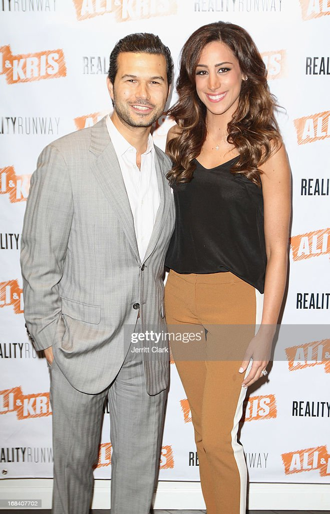 Ali and Kris owner Jason Hoffman poses with Danielle Jonas at the Reality Runway By Ali And Kris at the Ali and Kris Showroom on May 8, 2013 in New York City.