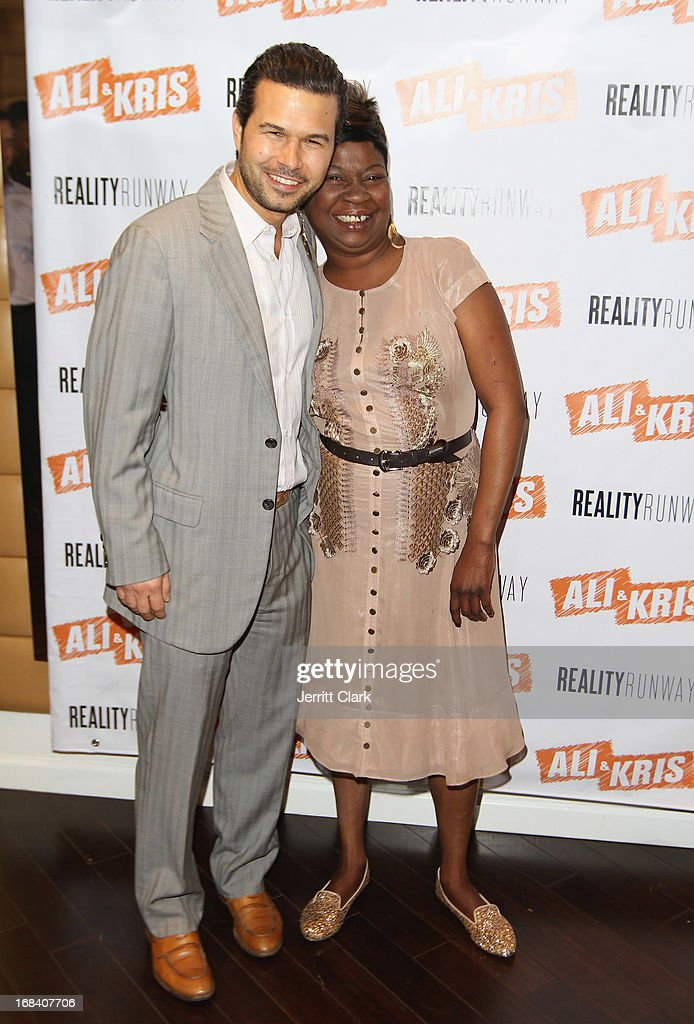 Ali and Kris owner Jason Hoffman poses with Sweet Brown at the Reality Runway By Ali And Kris at the Ali and Kris Showroom on May 8, 2013 in New York City.