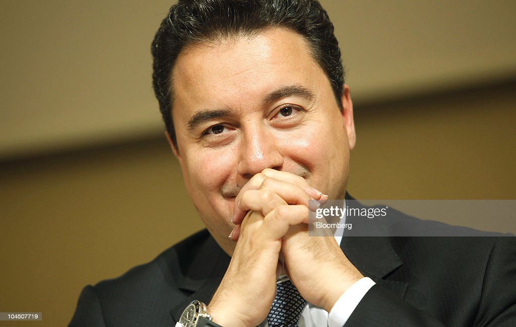 <a gi-track='captionPersonalityLinkClicked' href=/galleries/search?phrase=Ali+Babacan&family=editorial&specificpeople=612964 ng-click='$event.stopPropagation()'>Ali Babacan</a>, Turkey's deputy prime minister, smiles during the Global Economic Symposium in Istanbul, Turkey, on Tuesday, Sept. 28, 2010. Leading decision makers from politics, business, finance, academia and civil society gathered for the Global Economic Symposium in Istanbul from Sept. 27-29, 2010. Photographer: Kerem Uzel/Bloomberg via Getty Images