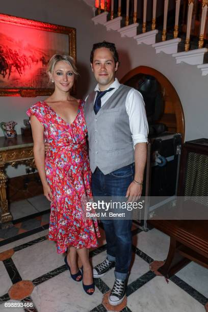 Ali Bastian and guest attend the press night after party for 'Bat Out Of Hell The Musical' at The Institute of Directors on June 20 2017 in London...