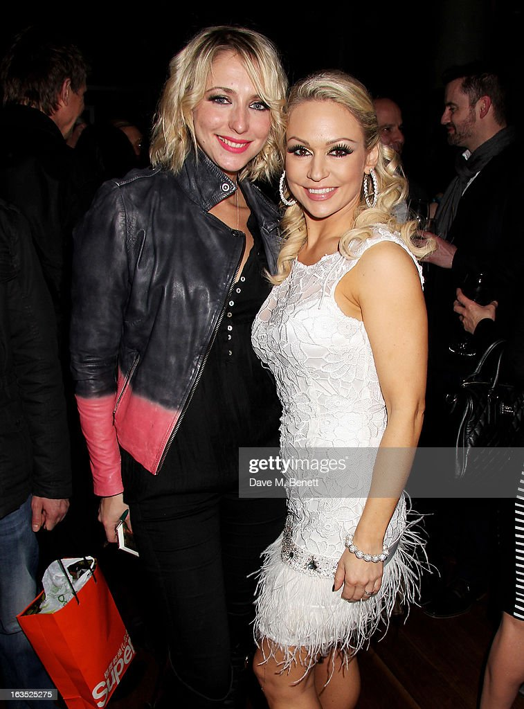 Ali Bastian (L) and Kristina Rihanoff attend an after party celebrating the press night performance of 'Burn The Floor' at the Trafalgar Hotel on March 11, 2013 in London, England.