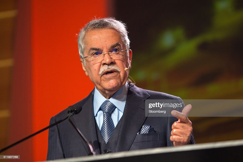 Ali Bin Ibrahim alNaimi Saudi Arabia's petroleum and mineral resources minister speaks during the 2016 IHS CERAWeek conference in Houston Texas US on...