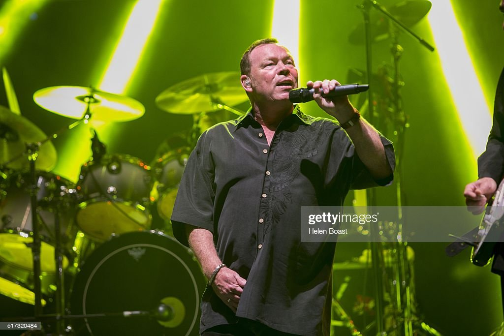 Ali Campbell of UB40 performs at Irish Village on March 24, 2016 in Dubai, United Arab Emirates.
