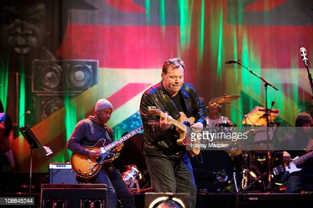 Ali Campbell of UB40 performs during the Reggae Britannia concert at Barbican Centre on February 5 2011 in London England