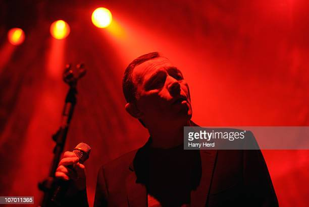 Ali Campbell of UB40 performs on stage at Southampton Guildhall on November 19 2010 in Southampton England