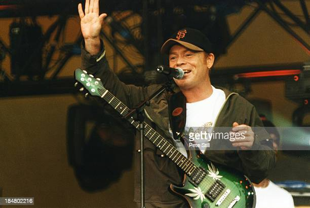 Ali Campbell of UB40 performs on stage at the Party In The Park in Hyde Park on July 4th 1999 in London England