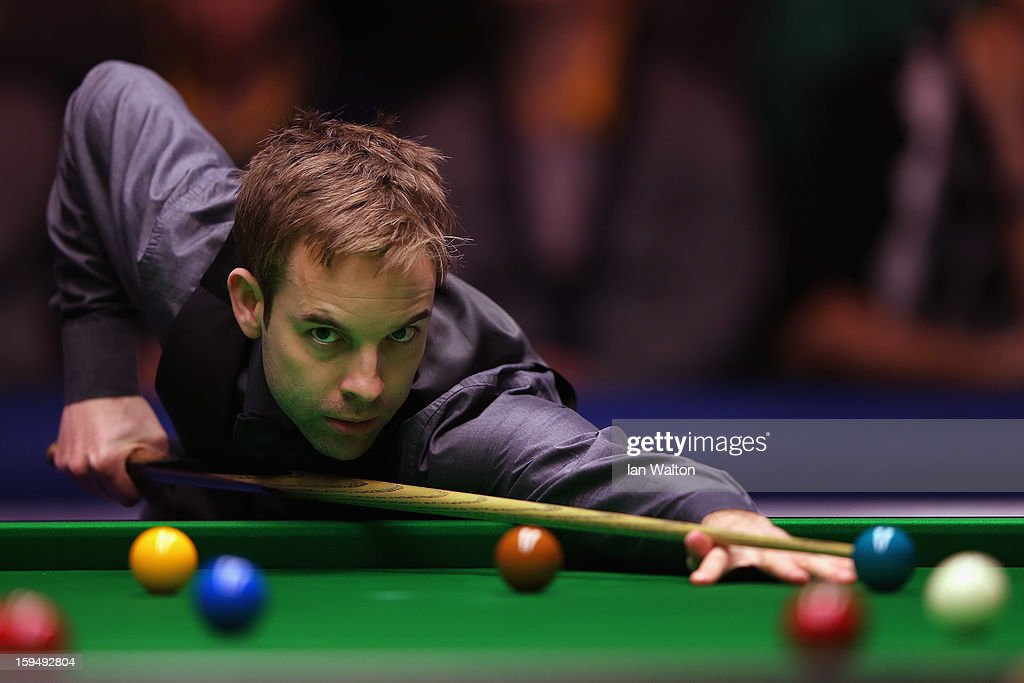 Ali Carter of England in action during his first round match against John Higgins of Scotland at Alexandra Palace on January 14, 2013 in London, England.
