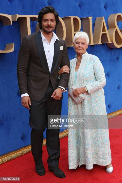 Ali Fazal and Judi Dench attend the 'Victoria Abdul' UK premiere held at Odeon Leicester Square on September 5 2017 in London England
