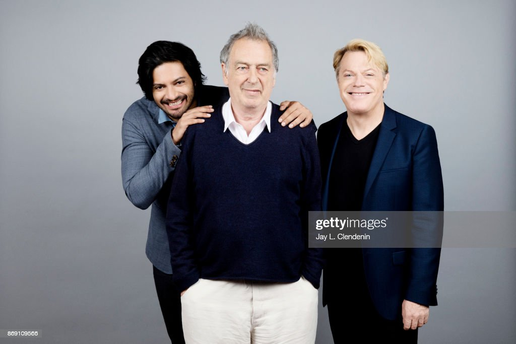 Ali Fazal, director Stephen Frears and Eddie Izzard from the film, 'Victoria & Abdul,' poses for a portrait at the 2017 Toronto International Film Festival for Los Angeles Times on September 12, 2017 in Toronto, Ontario.