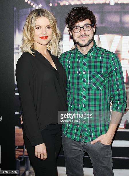 Ali Fedotowsky and Kevin Manno arrive at the Los Angeles premiere of Abramorama's 'Live From New York' held at Landmark Theatre on June 10 2015 in...