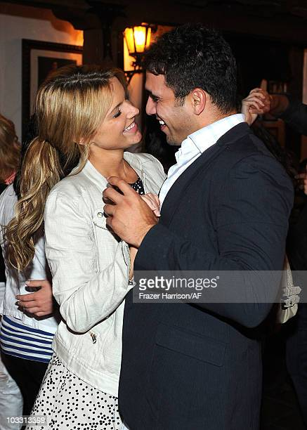 Ali Fedotowsky and Roberto Martinez celebrate their engagement with friendsat La Barca restrauant in San Franciso on August 7 2010 in San Francisco...