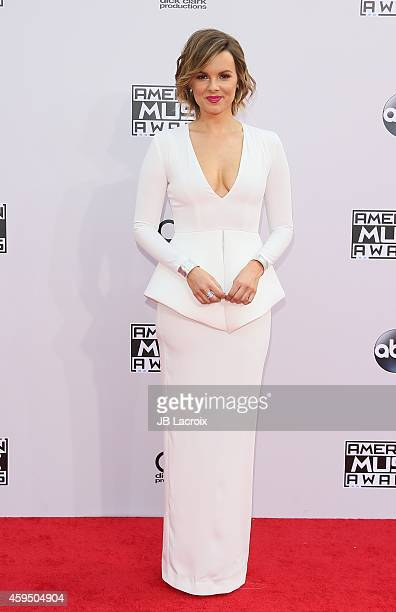 Ali Fedotowsky attends the 2014 American Music Awards at Nokia Theatre LA Live on November 23 2014 in Los Angeles California