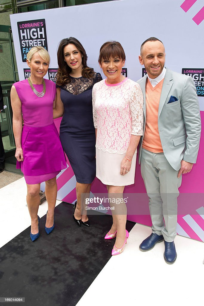 Ali Hall Kelly Brook Lorraine Kelly and Mark Heyes attend Lorraine's High Street Fashion Awards 2013 at East Wintergarden on May 22 2013 in London...