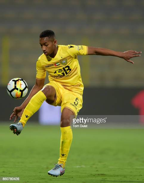 Ali Hassan Salim of Al Wasl in action during the Arabian Gulf League match between Al Wasl and Emirates at Zabeel Stadium on September 21 2017 in...